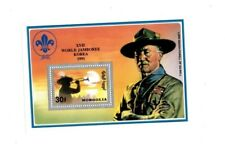 Mongolia - World Jamboree Boy Scouts - Silver Korea Souvenir Sheet - MNH