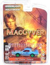 GREENLIGHT 44770 D MACGYVER 1987 PONTIAC FIREBIRD 1/64 CHASE CAR GREEN MACHINE