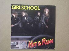 "Girlschool, 7"" vinyl - Hit & run."
