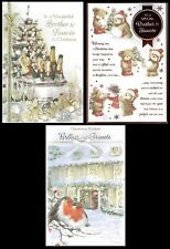 BROTHER and FIANCEE ~ Quality CHRISTMAS CARD with Fab Verses Choice of Design