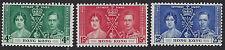 HONG KONG : 1937 KGVI Coronation set SG137-9 mint