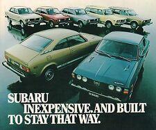 Big 1978 SUBARU Catálogo/ CATALOG: GF ,DL,Coupe,Hardtop,Sedan,Station Wagon ,