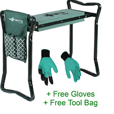 More details for folding portable knee pad garden kneeler foam chair seat padded stool free bag