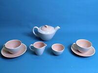 Poole Pottery Twintone Pink / Seagull Tea Set