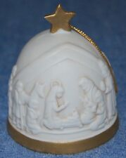 "Vintage Roman Porcelain Bell ""First Christmas Bell"" 1989 Nativity Scene"