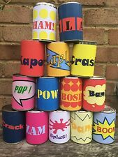 Super Hero Tin Can Alley Carnival Game Set Of 14 Labels Comic Book Game