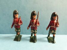 New listing Vintage Britains Scots Guards X3 Lead Toy Soldiers Rare