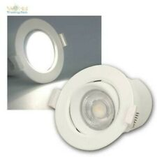 LED Cover Recessed Luminaire 9W Neutral White 720lm Dimmable, Spotlights Matt
