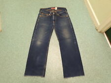 Levi's vero jeans larghi vita 81.3CM GAMBA 78.7cm sbiadito blu scuro da uomo