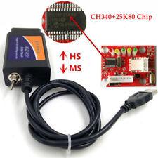 OBD2 Code Reader ELM327 USB V1.5 Modified ELMconfig CH340+25K80 Chip Scanner