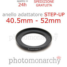 Anello STEP-UP adattatore da 40.5mm a 52mm filtro - STEP UP adapter ring 40.5 52