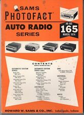 Sams Photofact-Auto Radio Manual/#AR-165/First Edition-First Print/1974