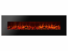 Ignis Royal 72 inch Electric Fireplace with Logs, Remote Control, 750W-1500W