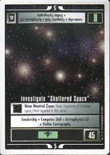 STAR TREK CCG WHITE BORDER PREMIERE 1995 BETA RARE INVESTIGATE SHATTERED SPACE