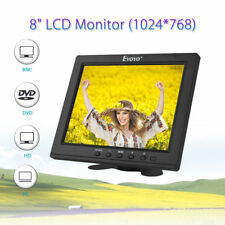 "8"" LCD HDMI Monitor Video Screen VGA BNC AV Ypbpr Input for CCTV Cam with Holder"