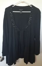 Womens Plus Size Black Cardigan 22/24 Lane Bryant