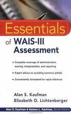 Essentials of WAIS -III Assessment by Kaufman, Alan S.