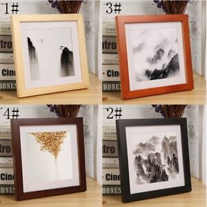 """Multi-size Room Decor Wooden Picture Photo Wall Frame Square 5""""/6""""/7""""/8""""/10"""" Hot"""