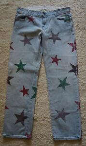 Hose der Marke Stella McCartney, Größe 30,  Material Cotton,hellblau mit Sternen