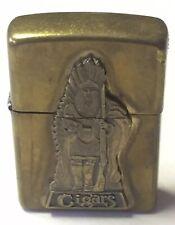 Native American Indian Marcus Garvey Coin Brass Zippo Lighter Bradford PA USA