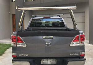 STAINLESS STEEL CHROME LADDER RACK FOR UTE TUB Ranger/BT50 TWIN CAB  (#551)