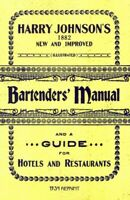 Harry Johnson's Bartenders Manual 1934 Reprint, Paperback by Brown, Ross; Joh...