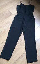 Topshop Black Strappy Jumpsuit Size 10