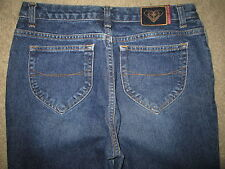 ROXY Quiksilver Boot Cut 100% Cotton Dark Blue Denim Jeans Womens Size 11 x 33