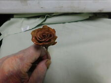 Vtg  Large Brown Rose Stick Pin