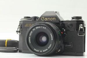 【NEAR MINT】 Canon AE-1 35mm SLR Film Camera & New FD NFD 28mm f/2.8 Lens Japan