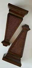 Vintage Pair Of Large Decorative Wall Sconce Shelves