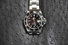 "MINT ROLEX 16610 SS MENS BLACK SUBMARINER ""D"" 2005 40MM STAINLESS WATCH SERVICED"