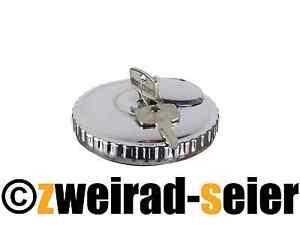 Tankdeckel abschließbar Ø 60mm hochglanzverchromt MZ ETZ