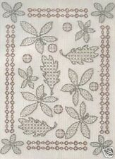 Blackwork Autumn Leaves Cross Stitch Kit - Anchor - Embroiderers' Guild