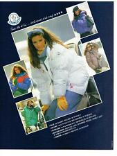 PUBLICITE ADVERTISING  1983  MONCLEAR  vetements hiver anoraks