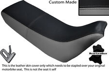 BLACK & GREY CUSTOM FITS YAMAHA XT 660 Z TENERE 3YF OLD SHAPE LEATHER SEAT COVER