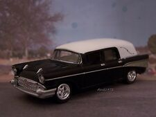 1957 57 Chevy Bel Air Hearse Collectible 1/64 Scale Diecast Model - Diorama