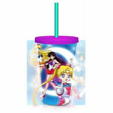 Sailor Moon Team 18 oz. Carnival Travel Cup NEW Toys Collectibles