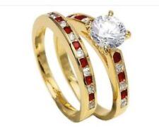 Anillos de joyería de compromiso rubí