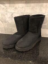 Women's UGG Classic Short II Black  Boots- size 9- #1016223
