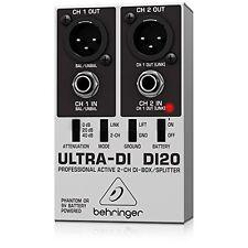 Behringer DI20 Ultra-DI 2 Channel DI Box/Splitter NEW