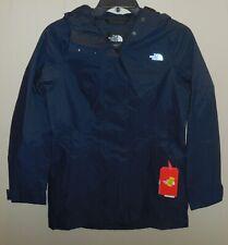 The North Face Womens Medium City Midi Trench Coat Rain Jacket Blue Waterproof