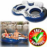 Inflatable Island Pool Mattress Float Floating Raft Canopy Sofa Lake Lounger New
