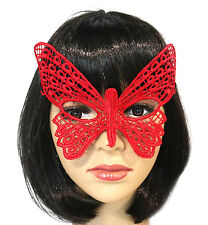 BUTTERFLY EYE MASK Red Lace Fancy Dress Party Face Cosplay Costume Birthday Gift
