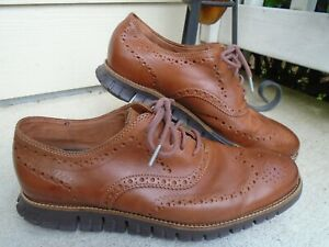 Cole Haan Grand.OS Brown Leather Oxfords Mens Size 10M
