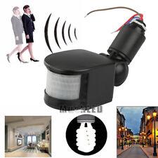 180° LED Outdoor 12V Infrared PIR Motion Sensor Detector Wall Light Switch