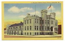 CAMBRIDGE MD National Guard Armory Vtg Maryland PC Maryland Postcard