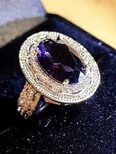 AMETHYST AND CZ WHITE GOLD GF ROYAL CROWN SETTING SIZE 6 US