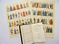 Costumes Religieux. Lot gravures ecclésiastiques + Explication des Évangiles
