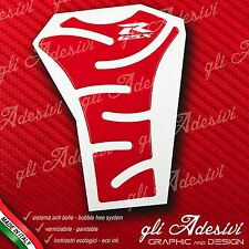 Paraserbatoio Resinato Sticker 3D SUZUKI GSX R All RED Moto